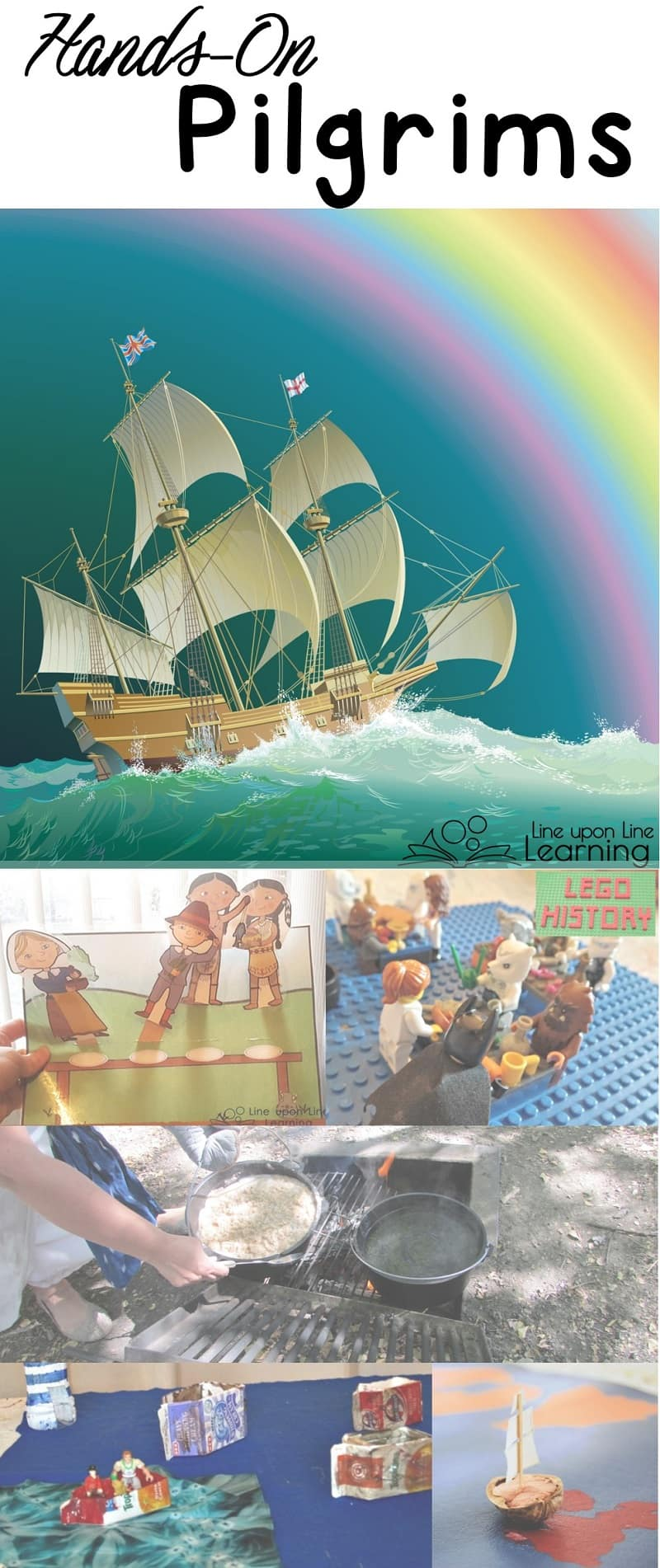 Hands-on activities and crafts for the Pilgrims and the Plymouth early American settlements brings history to life.