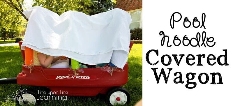 Simple Diy Pool Noodle Covered Wagon
