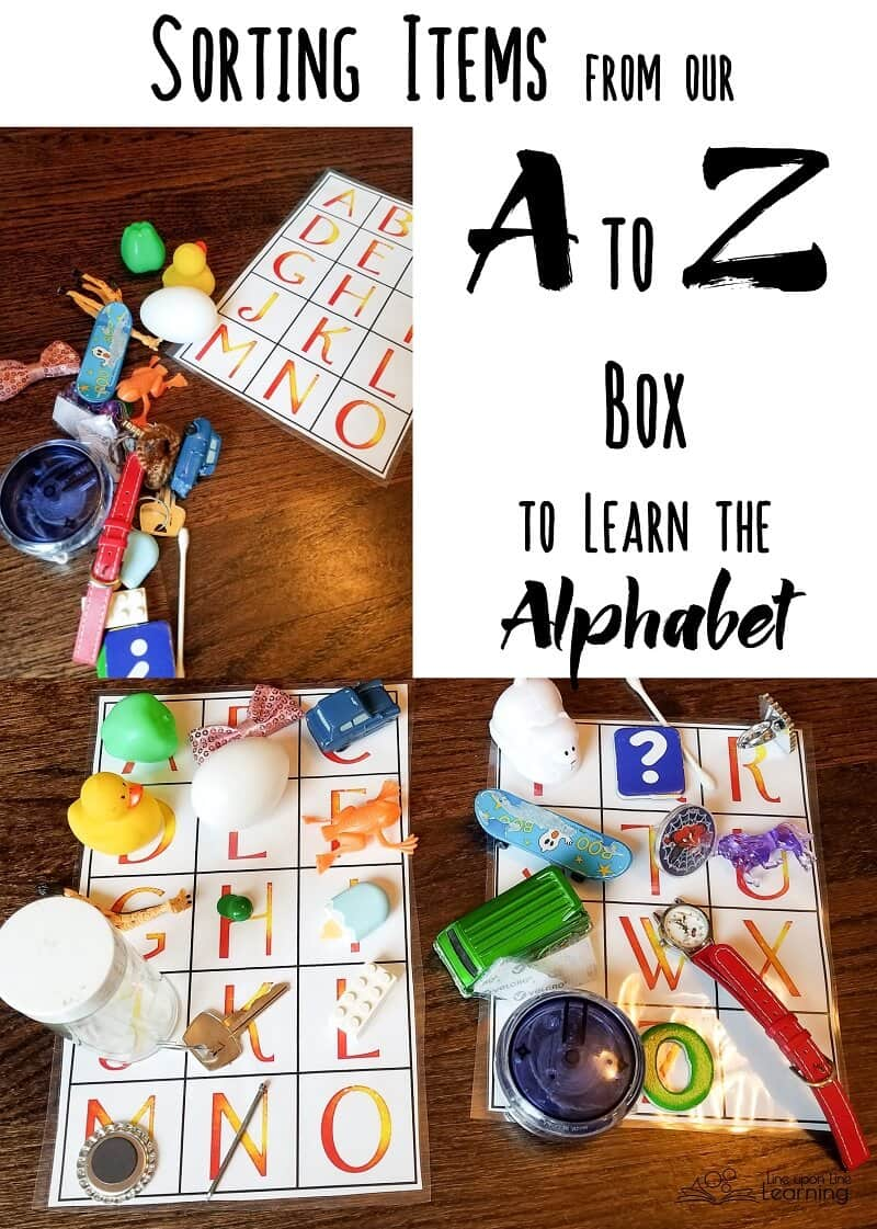 Sorting letters, alphabetizing, reviewing sounds and names: an A to Z box is a fun hands-on way to practice the alphabet.