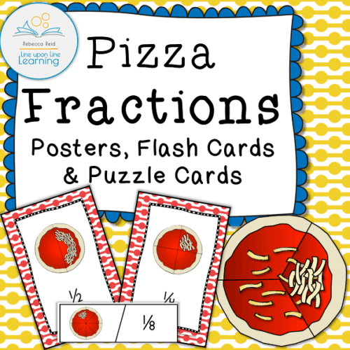 pizza fractions poster puzzle COVER