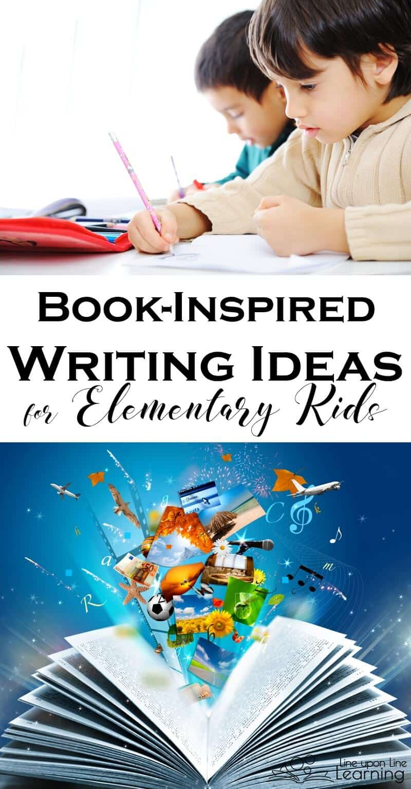 Elementary level kids are the perfect age for using picture books for writing prompt inspiration.