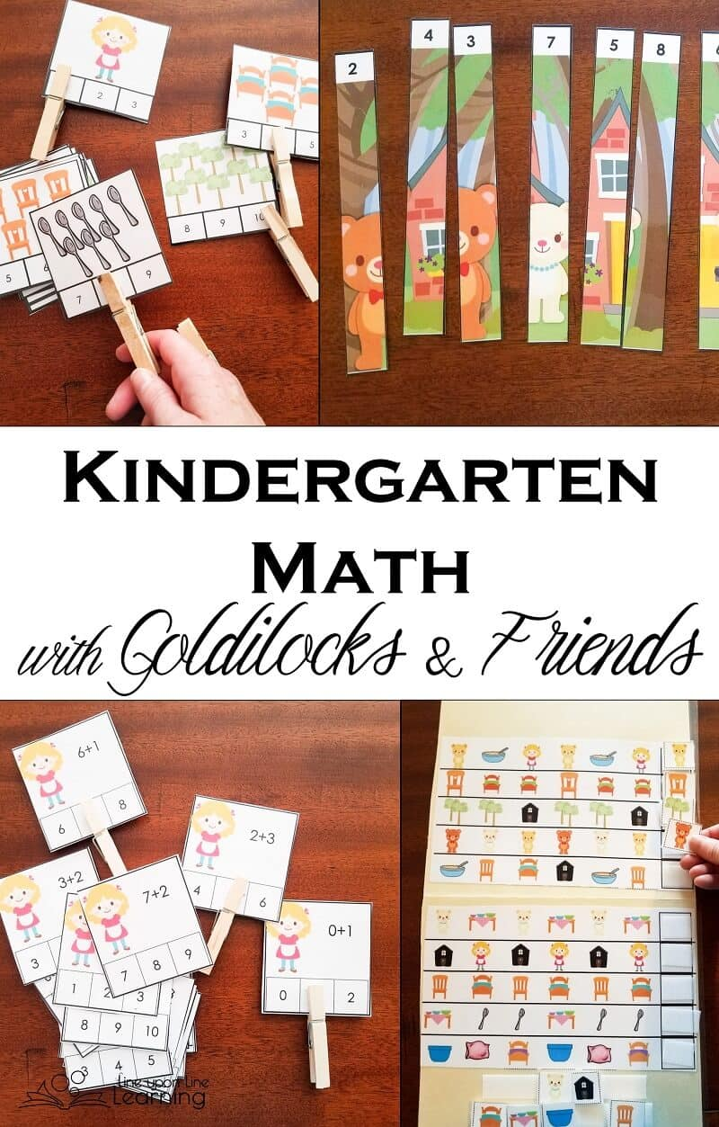 Hands-On Kindergarten Math with Goldilocks and Friends – Line upon ...
