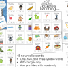 syllable counting clip cards nouns DEMO
