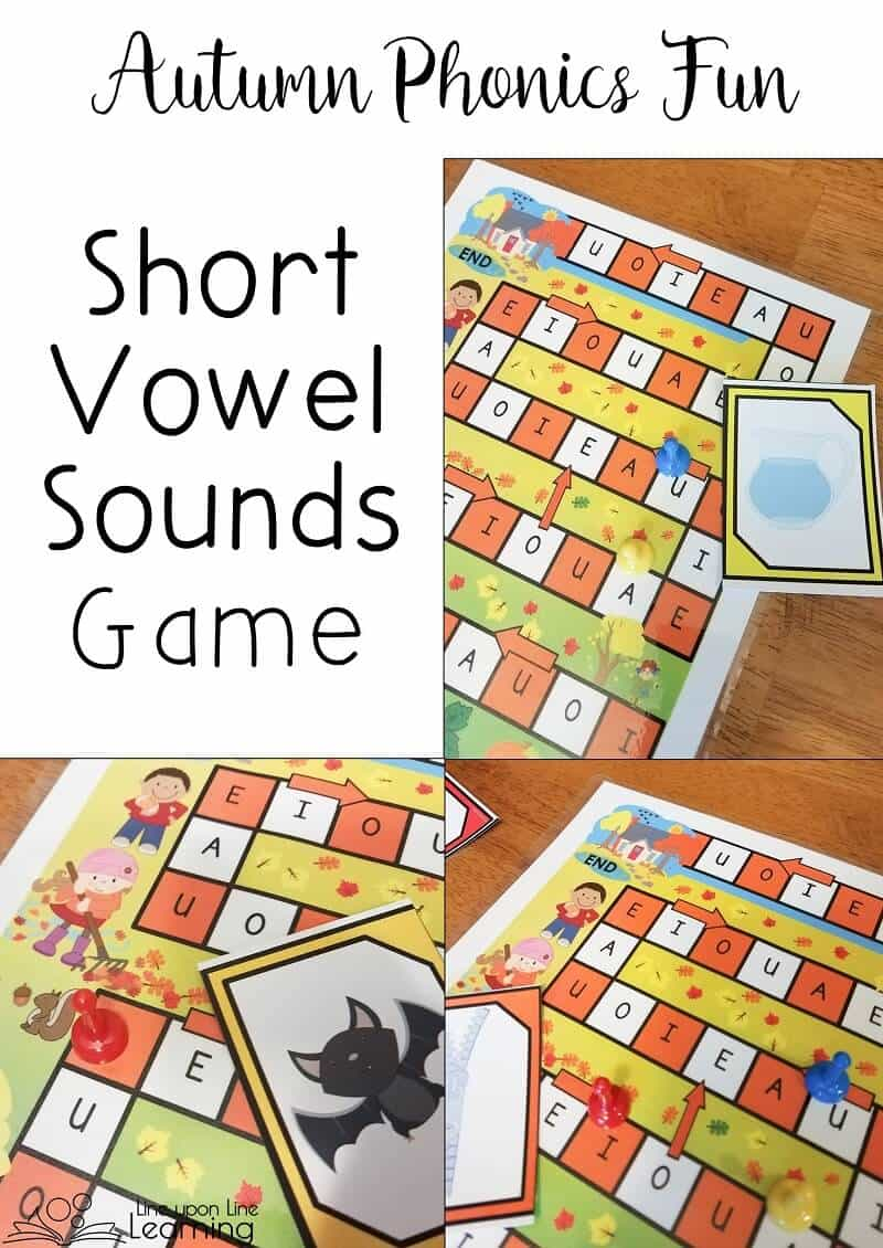 We practice identifying short vowels with this autumn short vowel sounds game.