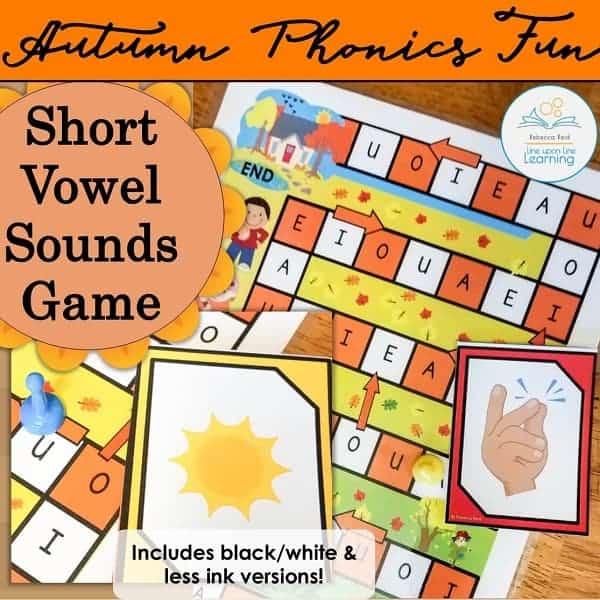 short vowel sound autumn game COVER