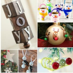 15+ Easy Homemade Christmas Ornaments