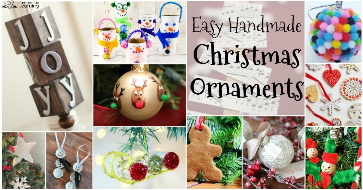 these easy homemade christmas ornaments would work well for gifts for family and friends or