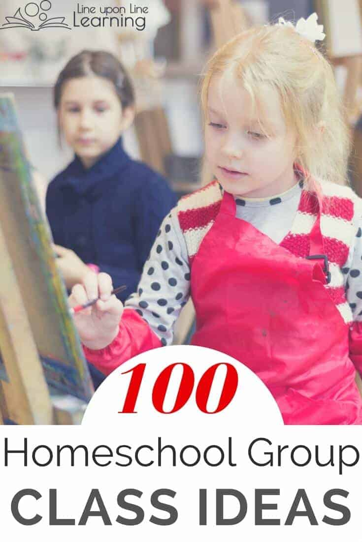 Homeschool co-op classes can range from fine arts to science labs. Here's a list of more than 100 homeschool group class ideas.