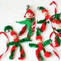 Easy Elf Christmas Ornaments for Kids to Make