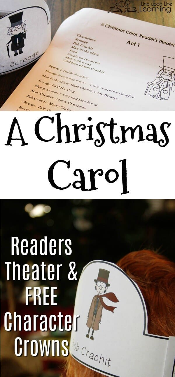 Improve reading skills with a Christmas Carol Readers Theater, or just practice gaining familiarity with a great classic story. FREE Christmas Carol Characters' crowns available!