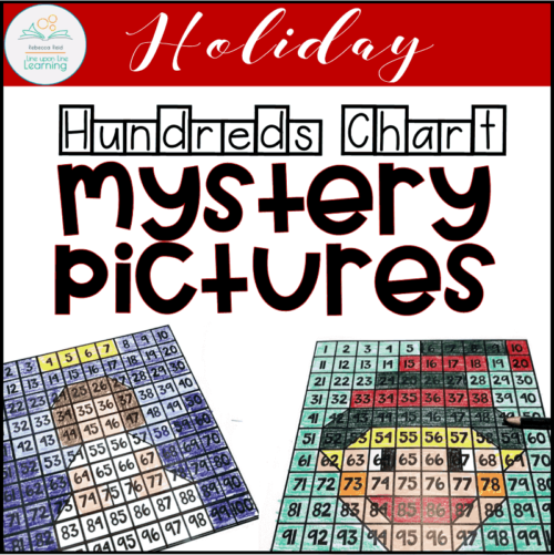 Christmas hundreds chart mystery pictures COVER