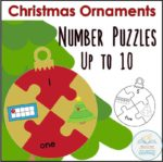 Christmas ornament number puzzles COVER