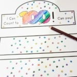 Practice counting to 100 with free count to 100 printable crown templates. Each has 100 stars to practice counting!