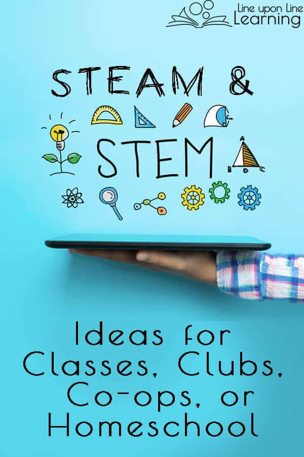 What an amazing list of STEAM or STEM projects for our homeschool co-op classes and STEM club! We love hands-on learning.
