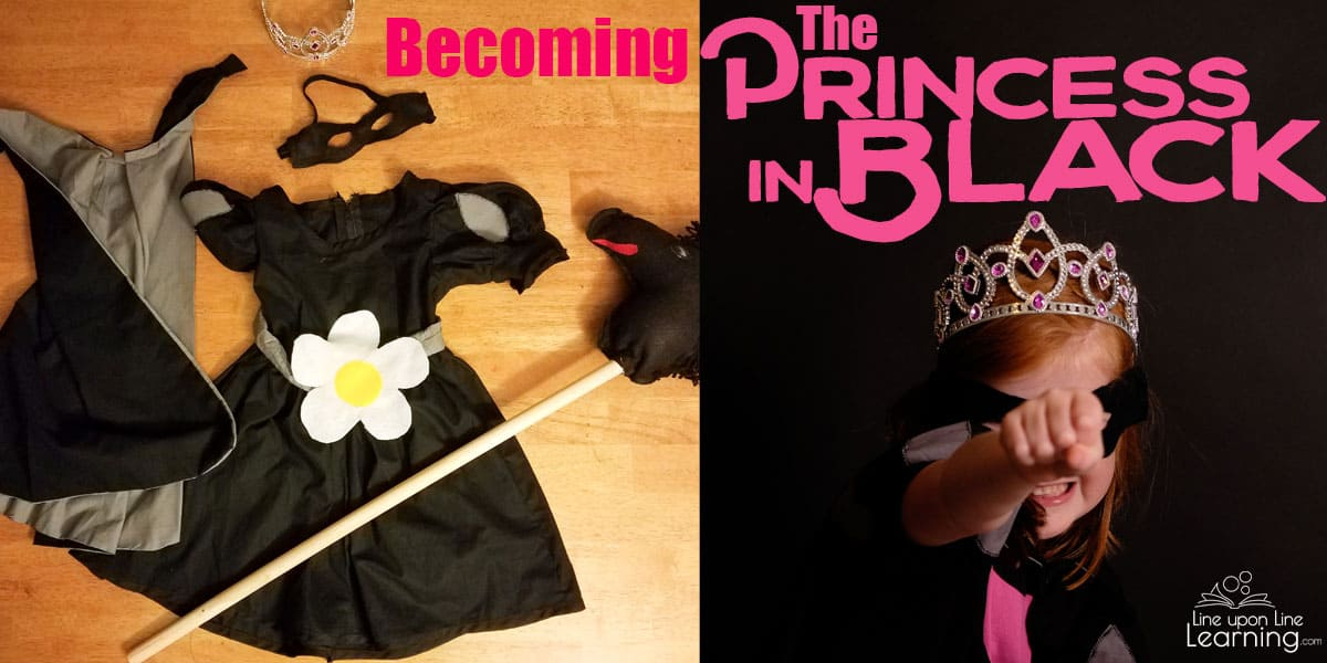 My daughter loves dressing up as the ninja princess, the Princess in Black. Here's how we made our DIY princess in black costume, as inspired by Shannon Hale's early chapter books.