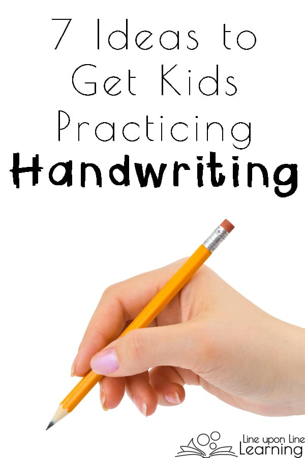 Handwriting is not always a favorite subject for young children, but when you give it a purpose or make it into a game, kids won't complain about practicing handwriting!