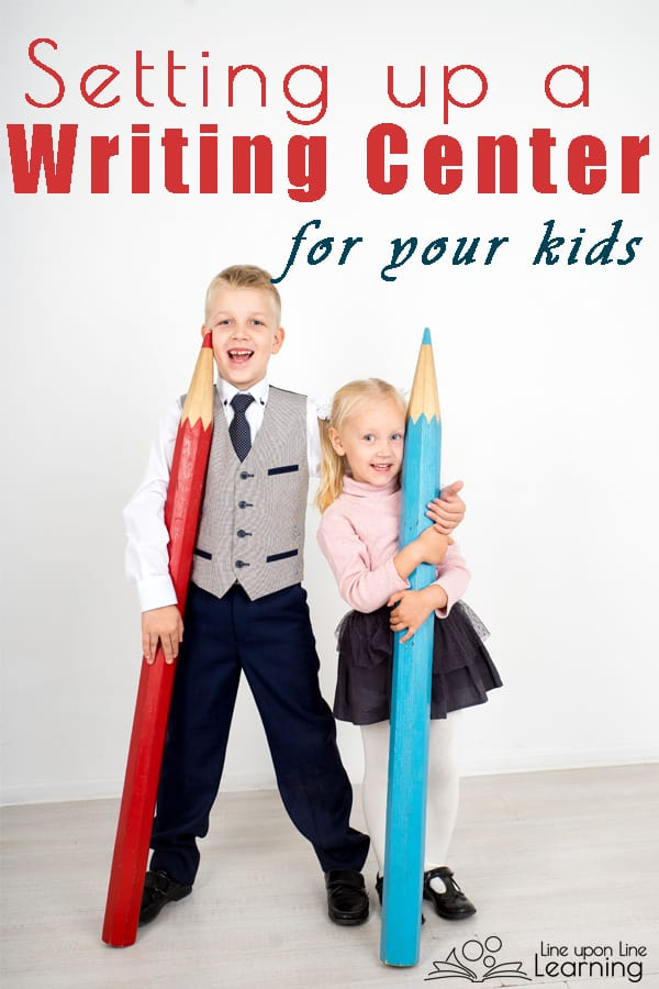 Setting up a writing center for your classroom or homeschool will allow your children to have access to the resources they need to write creatively.