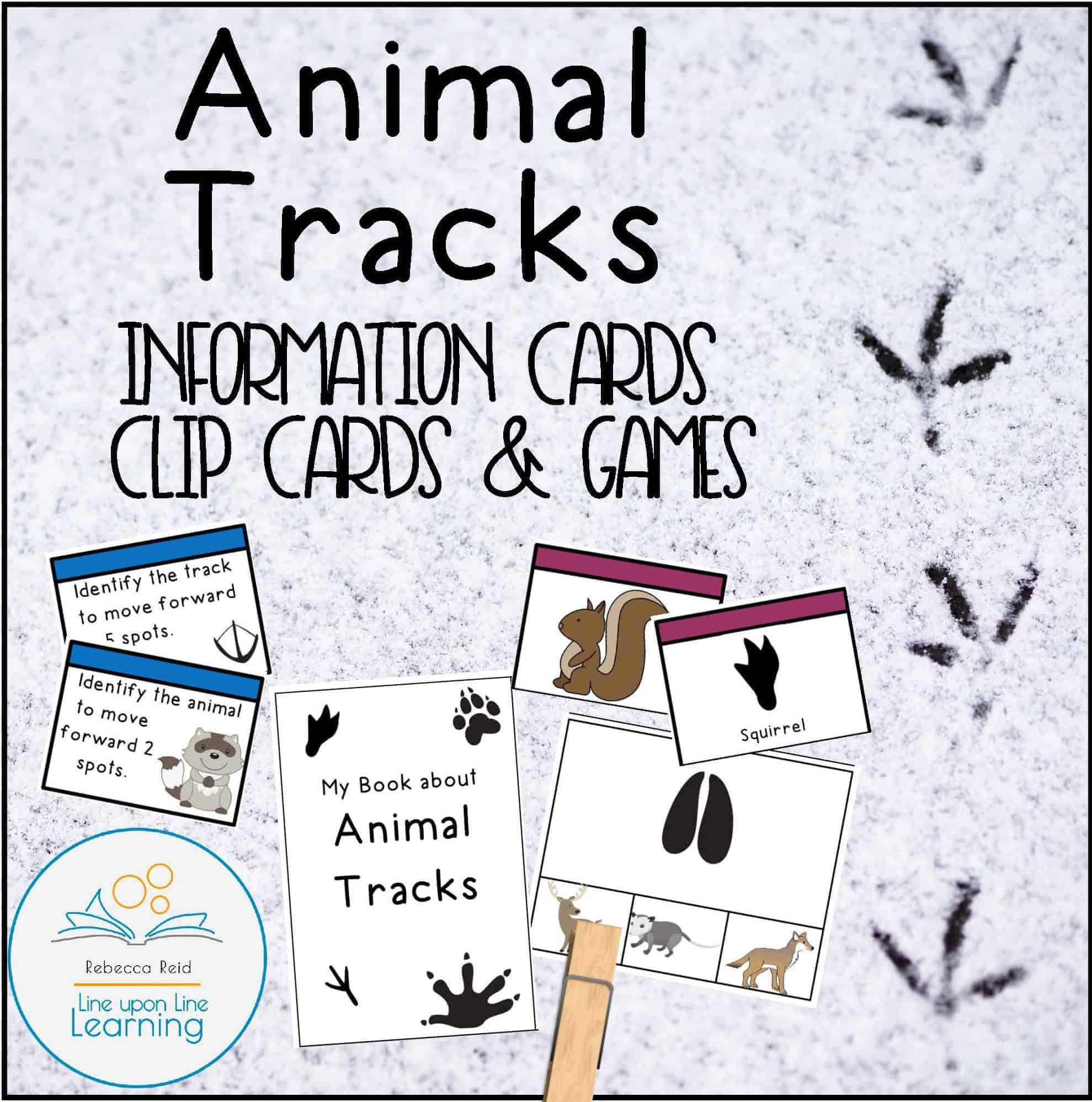 Animal Tracks Information Cards Clip Cards And Games Line Upon Line Learning [ 1997 x 1979 Pixel ]