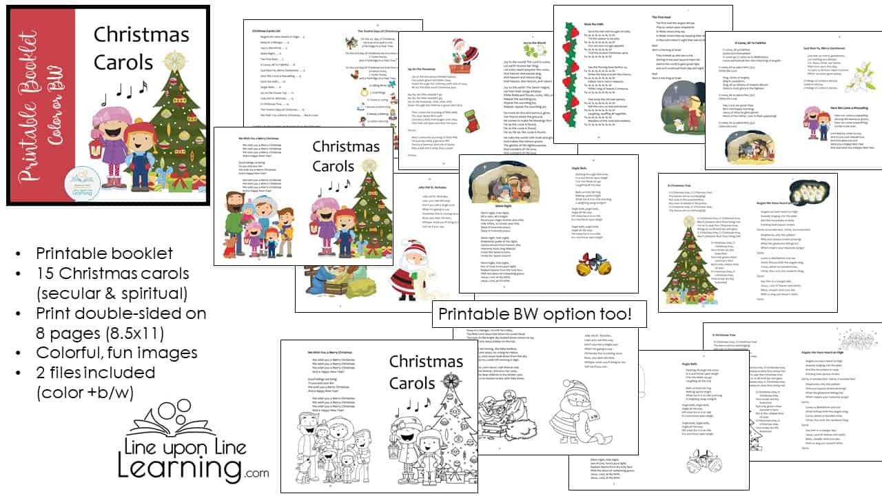picture regarding Printable Christmas Carols Booklet identified as Xmas Carols Booklet
