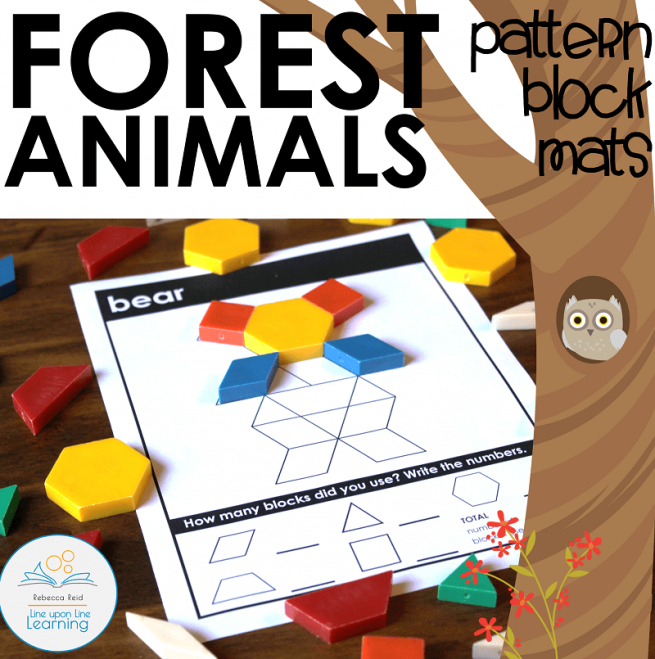 Forest Animals pattern block cards