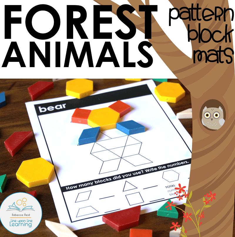 Forest Animals pattern block cards