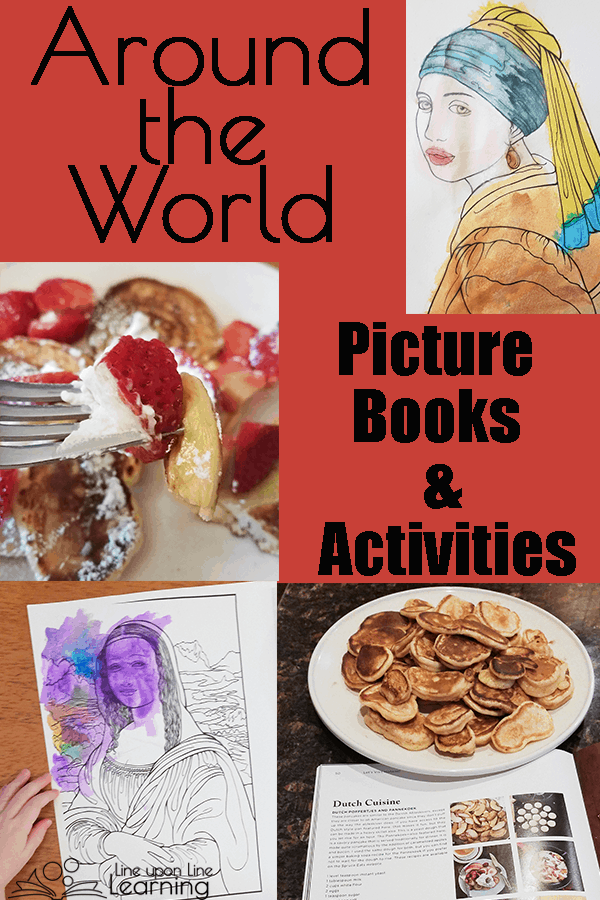 Around the World with Picture Books is a gentle way to introduce world cultures and world geography to early elementary aged kids.