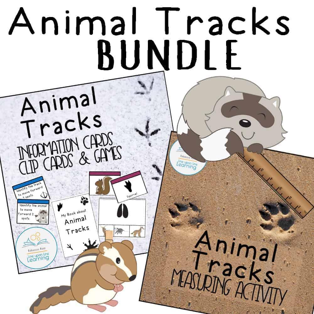 Animal Tracks Bundle Line Upon Line Learning [ 1000 x 1000 Pixel ]