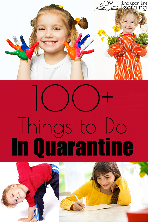 Need some ideas of what to do while stuck at home? Here are 100+ ideas to get started on.