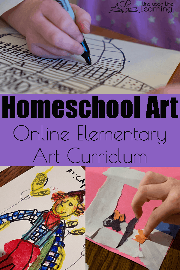 Online elementary art lessons with Atelier Homeschool Art by Arts Attack are accessible and fun.