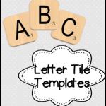 Letter Tile Template