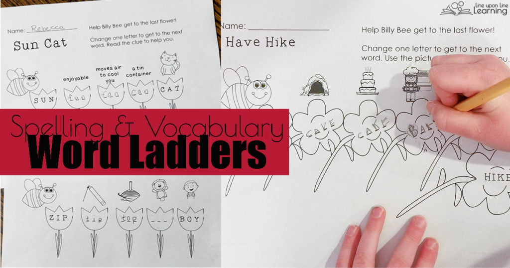 Practice spelling and vocabulary with CVC, CVCe, and blends word ladders.